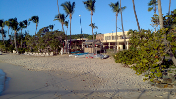 Caneel Bay Beach from sea