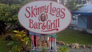 Skinny Legs restaurant sign