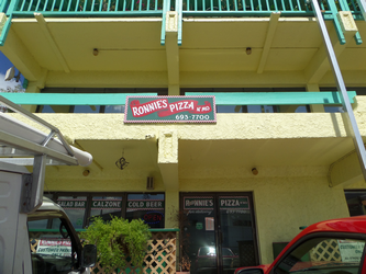 Ronnie's Pizza sign